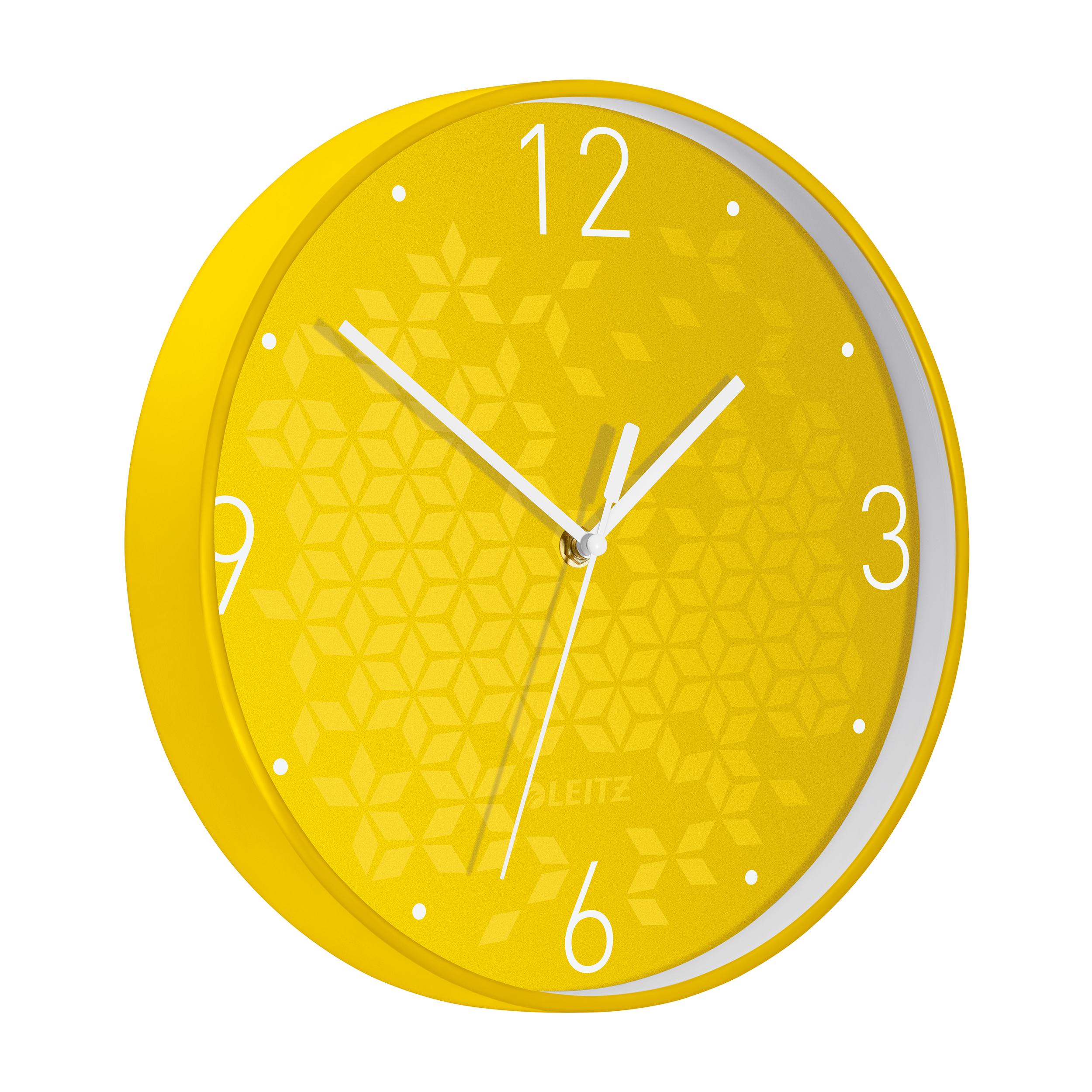 Leitz WOW Wall Clock 290x290x43mm Yellow Ref 90150016
