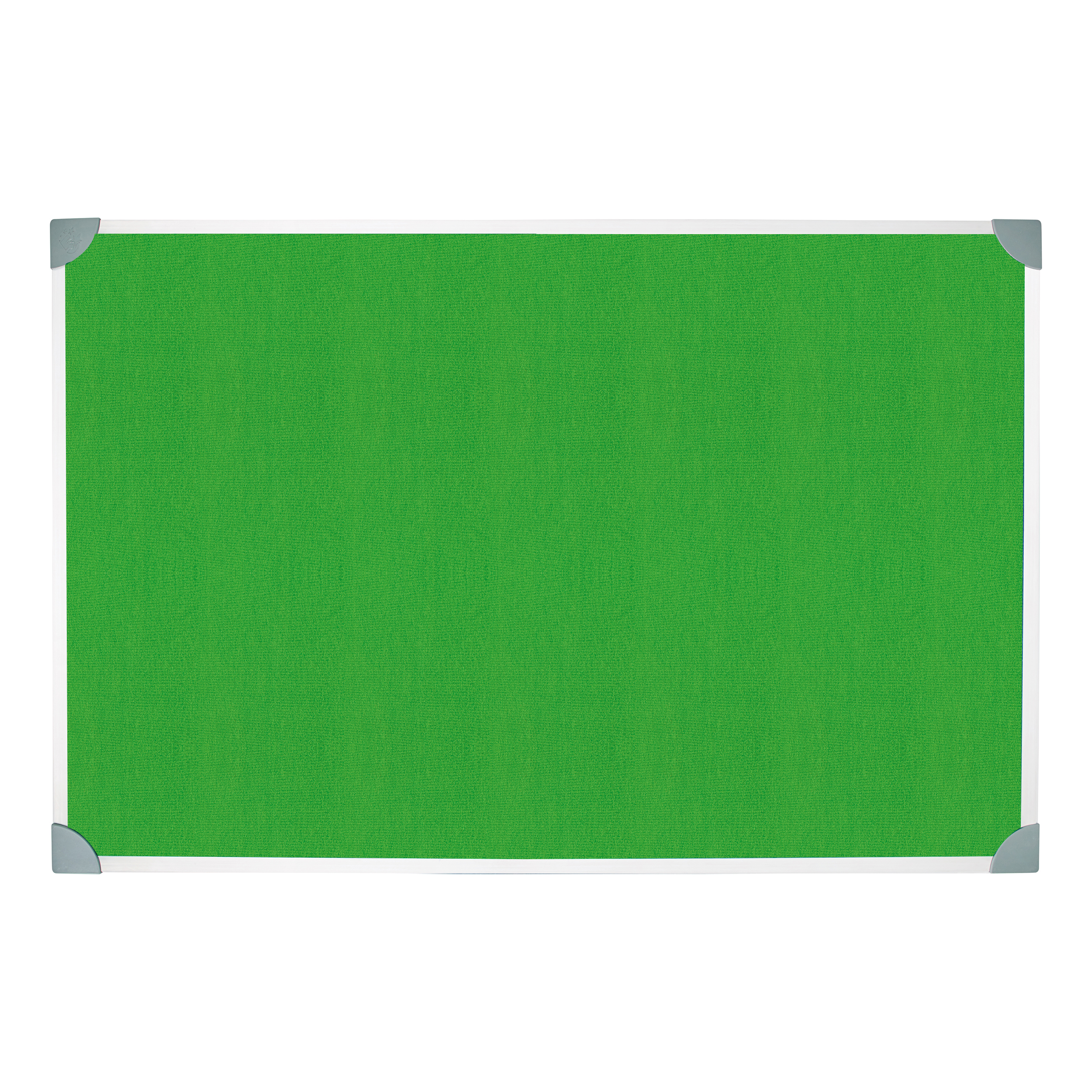 Image for 5 Star Green Felt Noticeboard 1200x900mm Aluminium Frame
