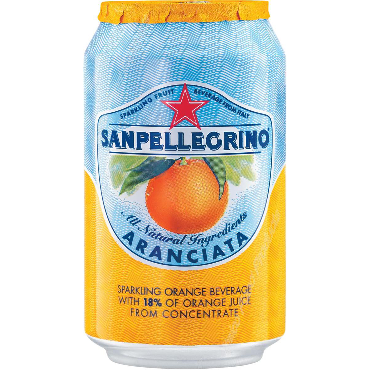 San Pellegrino Sparkling Orange Citrus Soft Drink 330ml Can Ref N003998 [Pack 24]