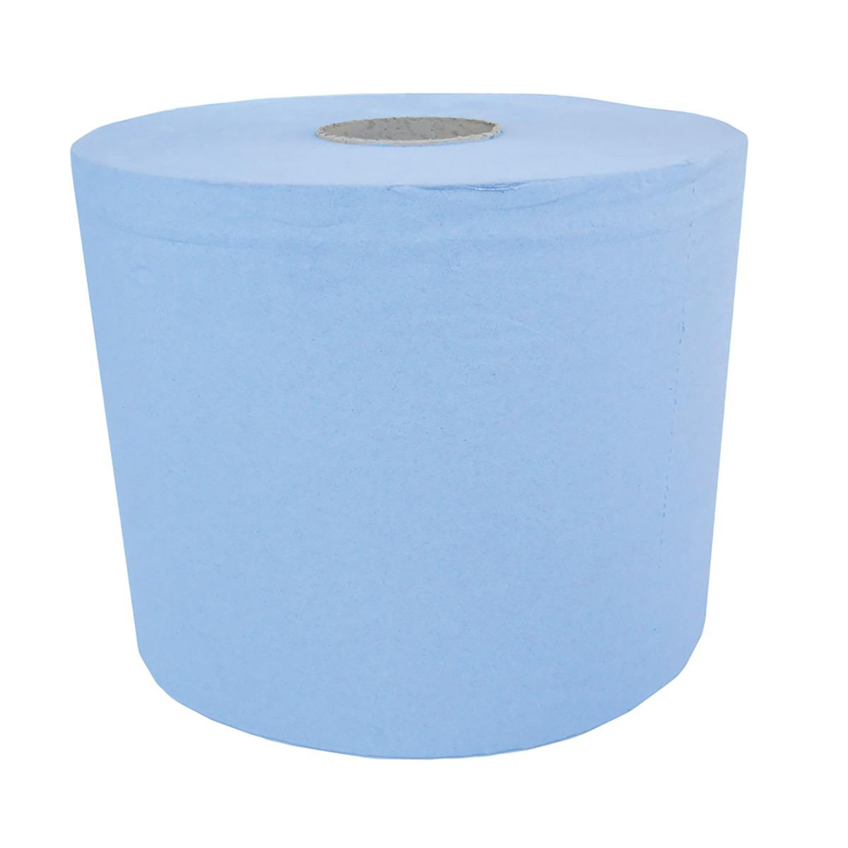 Maxima Centrefeed Roll 3-Ply 180mmx130m Blue Ref 1105186 [Pack 6]