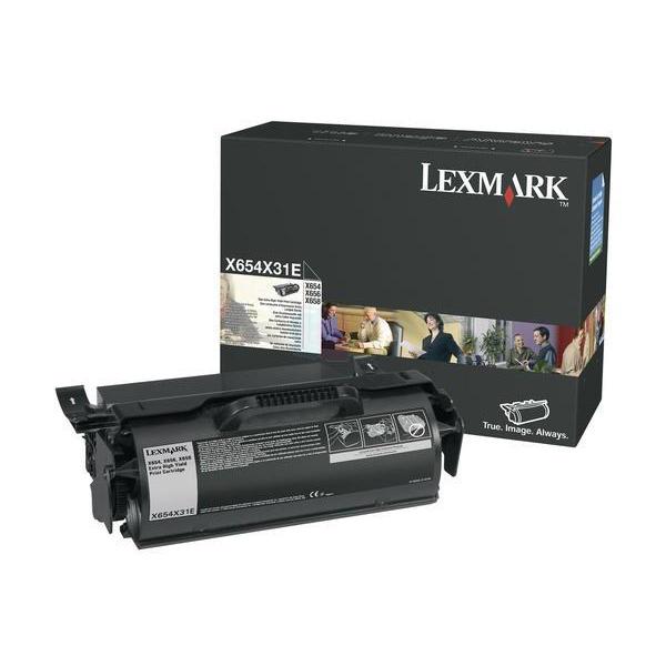 Lexmark X654 Toner Cartridge Return Programe Page Life 36000pp Black Ref X654X31E
