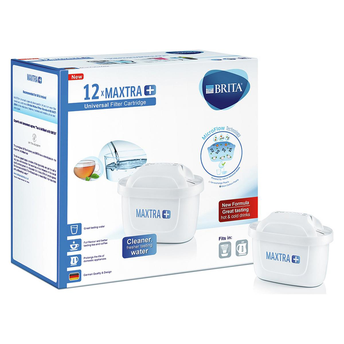 Brita Maxtra Plus Water Filter Cartridges Recyclable Ref 1030029 [Pack 12]