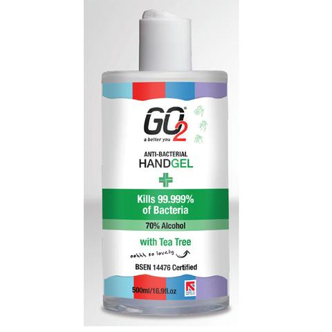 Hand sanitiser 70% Alcohol 500ml With disc cap dispenser