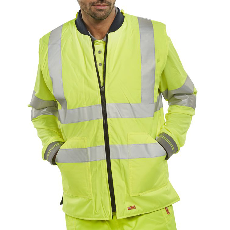 B-Seen Hv Outer Wear - Bodywarmer Eng Sat/Yellow S