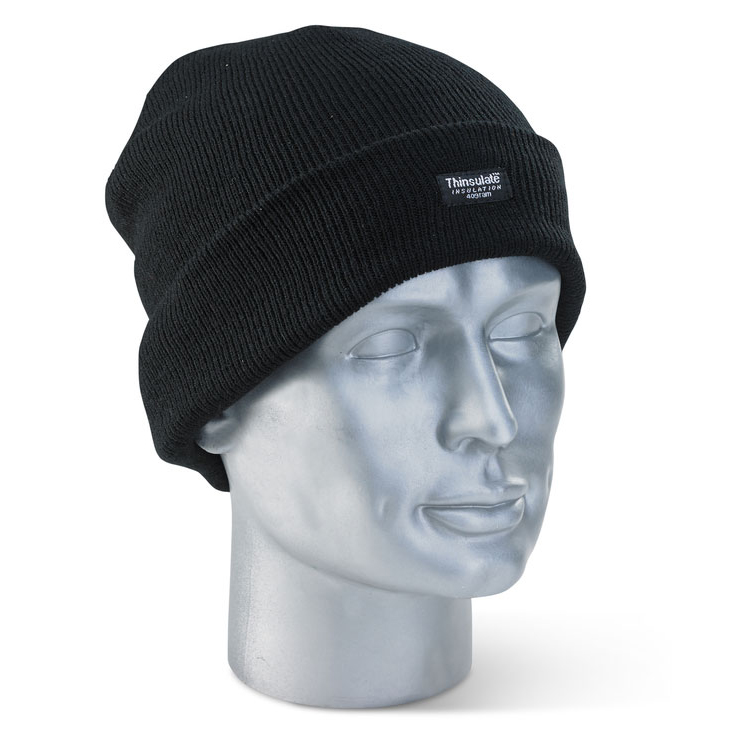 Click Knitwear - Thinsulate Beenie Hat Black