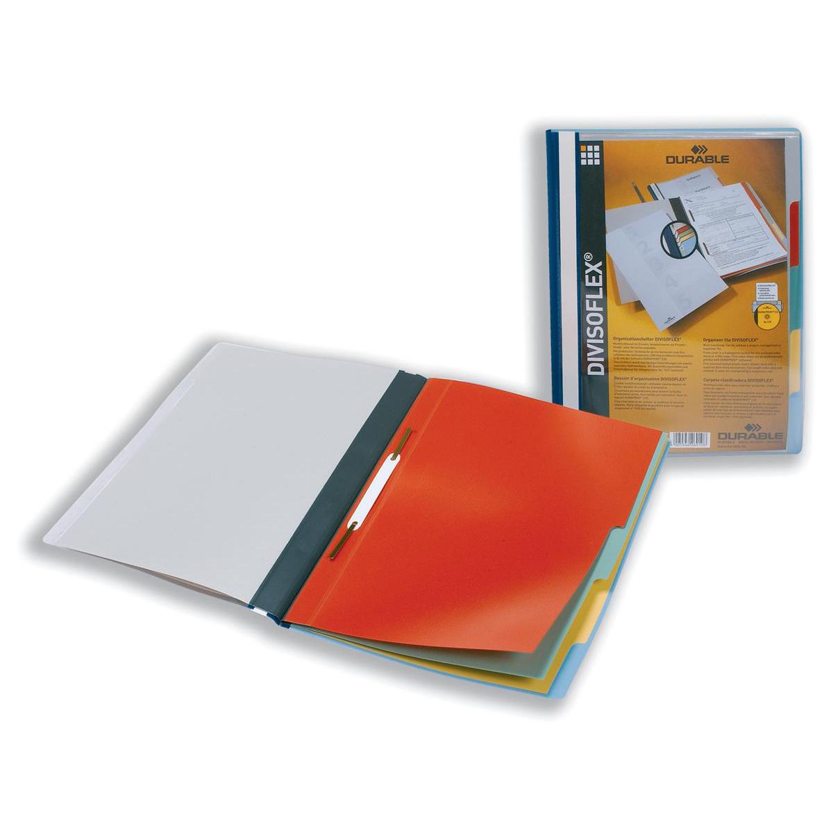 Durable Divisoflex Project Flat File Plastic Capacity 15mm A4 Blue Ref 2557/06