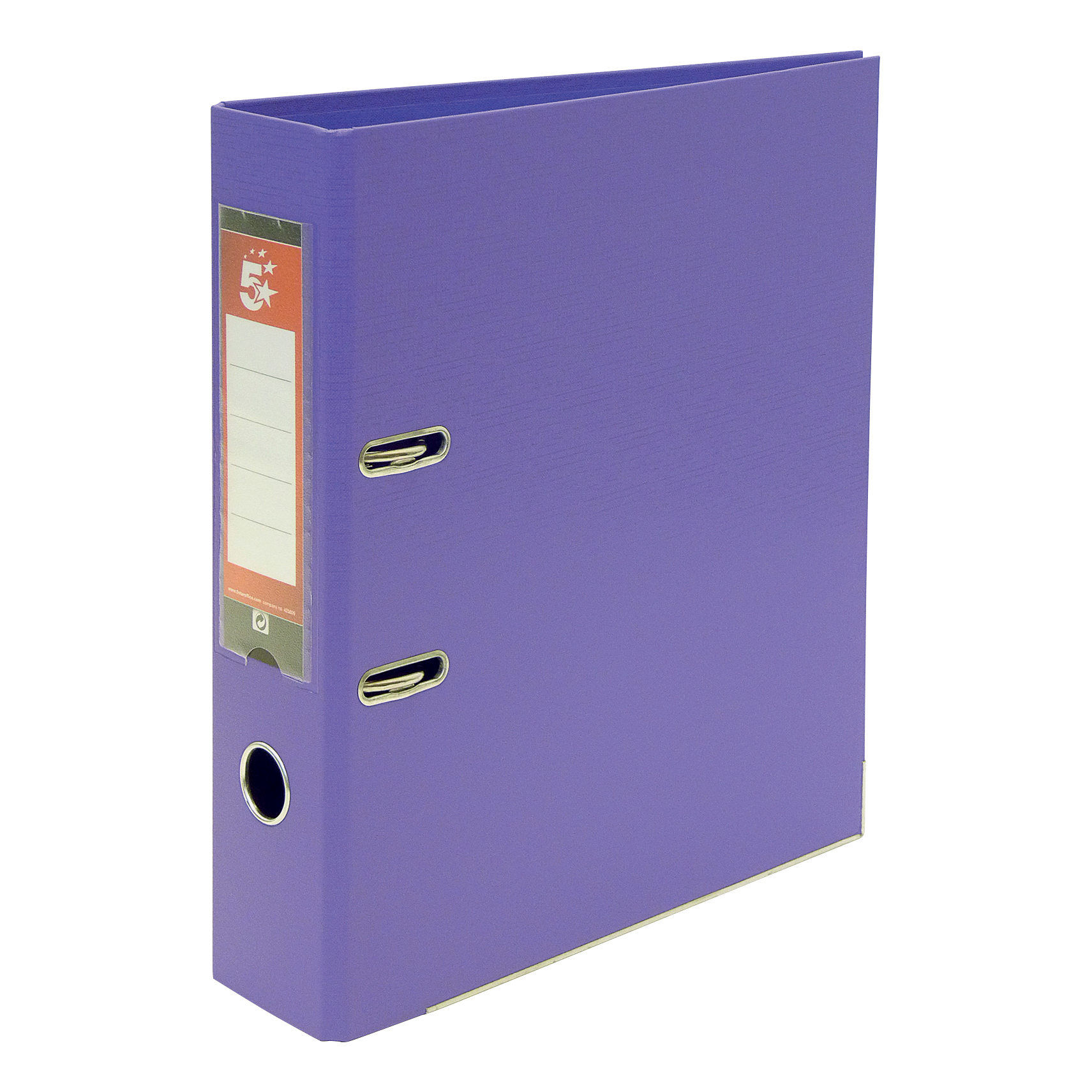 5 Star Office Lever Arch File Polypropylene Capacity 70mm A4 Purple [Pack 10]