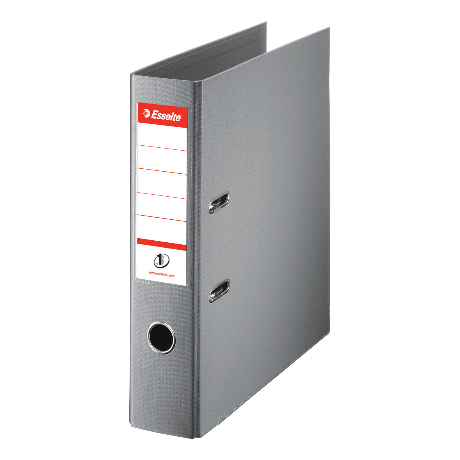 Esselte FSC No. 1 Power Lever Arch File PP Slotted 75mm Spine A4 Grey Ref 811380 [Pack 10]
