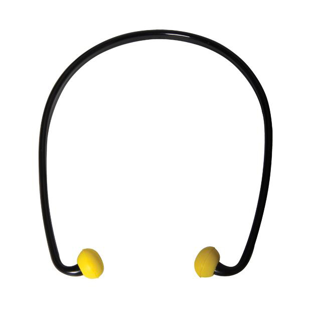 JSP SoundStop Ear Plugs PU Foam Yellow with Black Band Ref AEE090-070-2G1 [Pack 40]