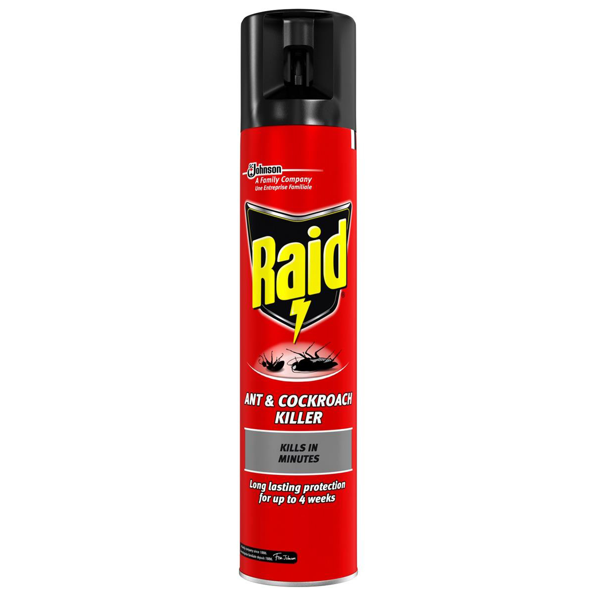 Image for Raid Ant & Cockroach Insecticide Aerosol 300ml Ref 97734