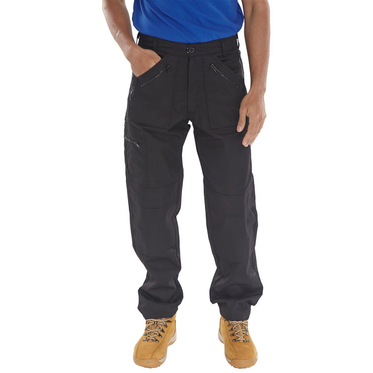 Poly-Cotton Workwear - Action Work Trousers Black 34