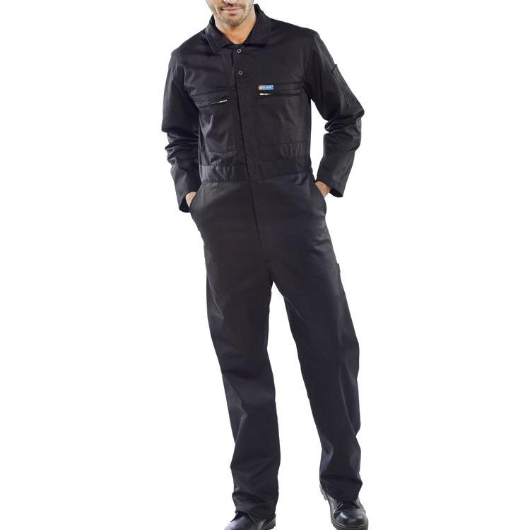 Poly-Cotton Workwear - Super Click Pc B/Suit Blk 44