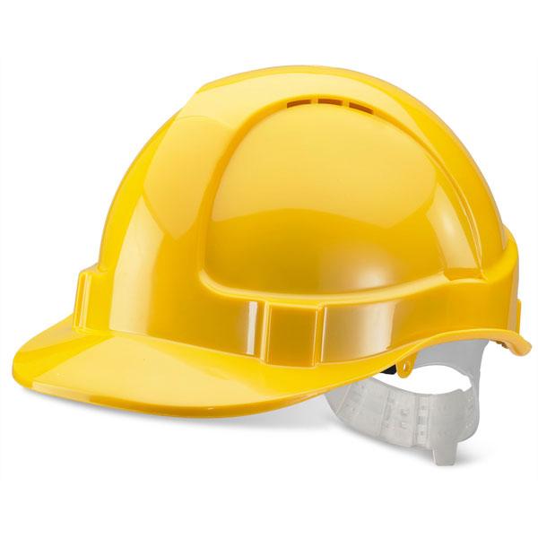 Yellow Plastic Harness - Economy Vented S/Helmet