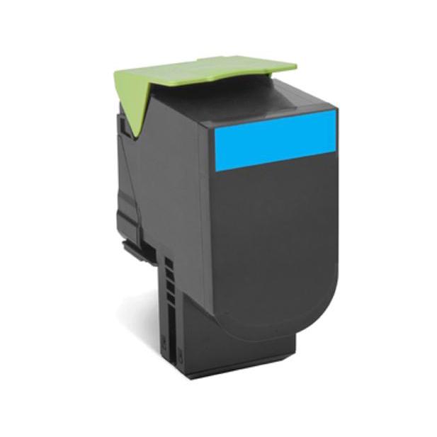 Lexmark 702C Laser Toner Cartridge Return Programme Page Life 1000pp Cyan Ref 70C20C0
