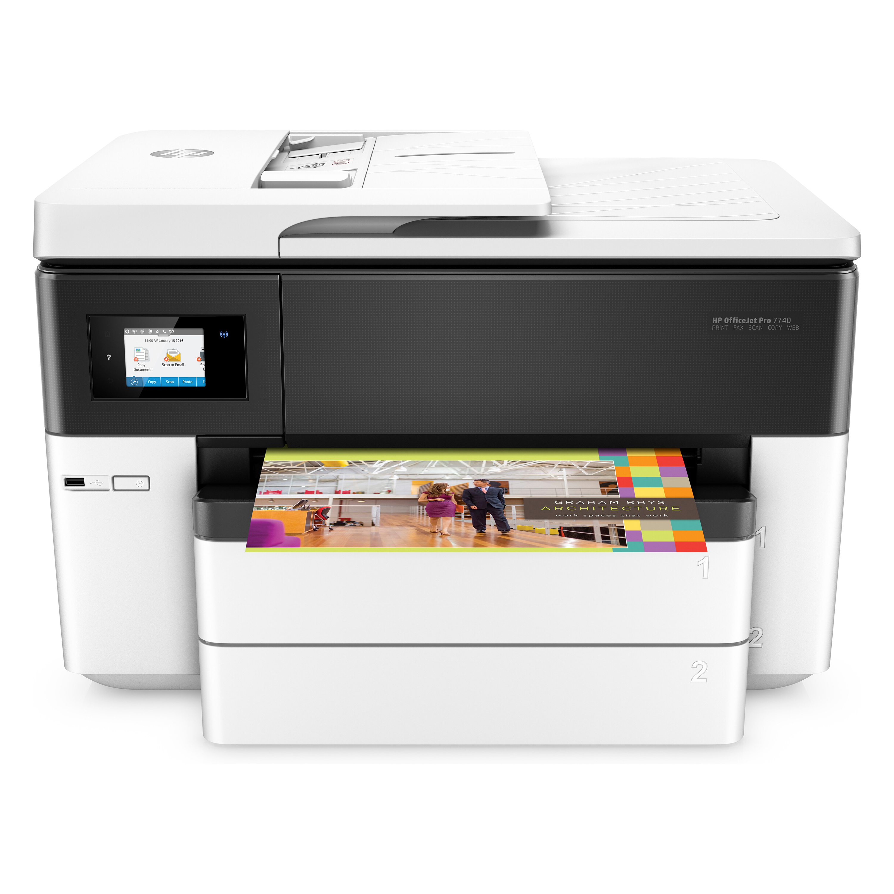 HP OfficeJet Pro 7740 WiFi Multifunction Inkjet A3 Printer Ref G5J38A