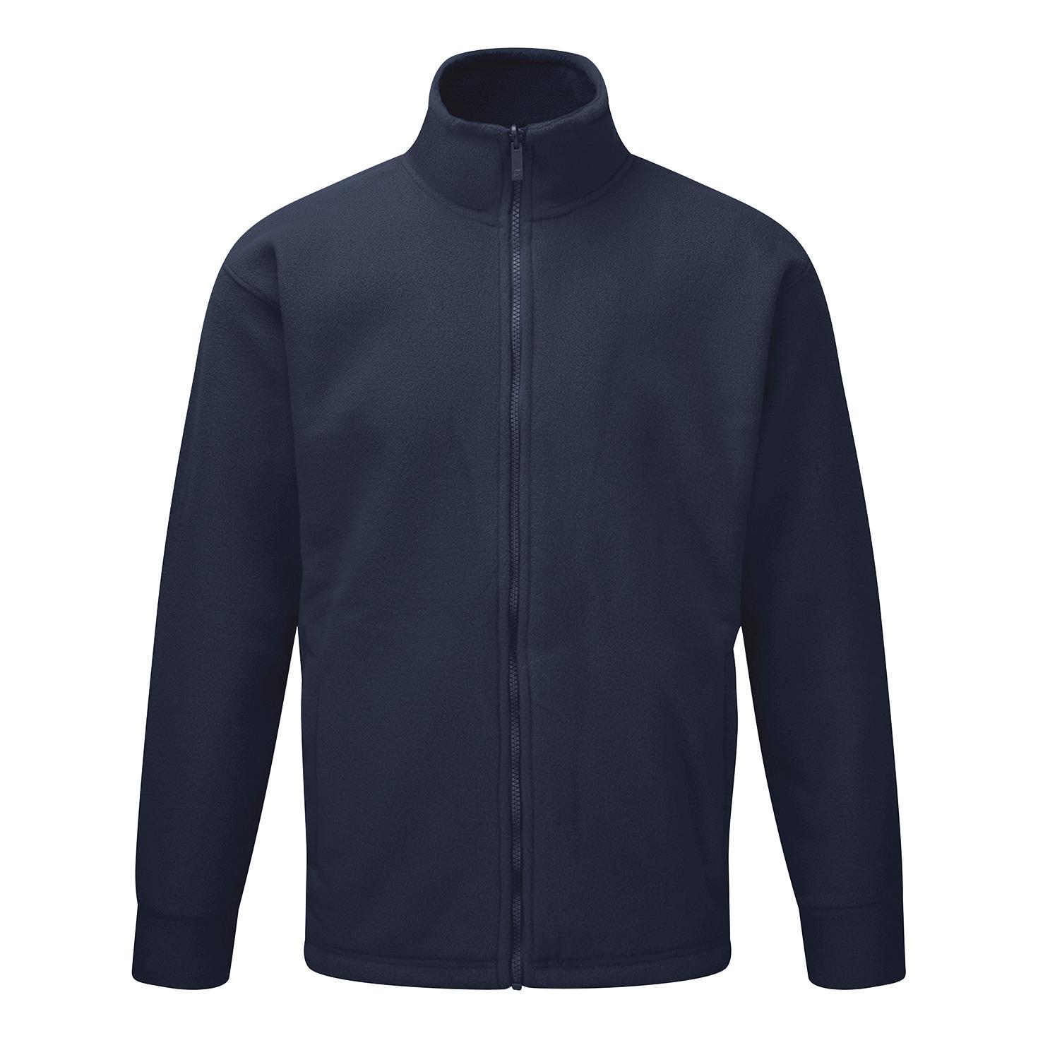 Poly-Cotton Workwear - Fleece Jkt Navy Xl