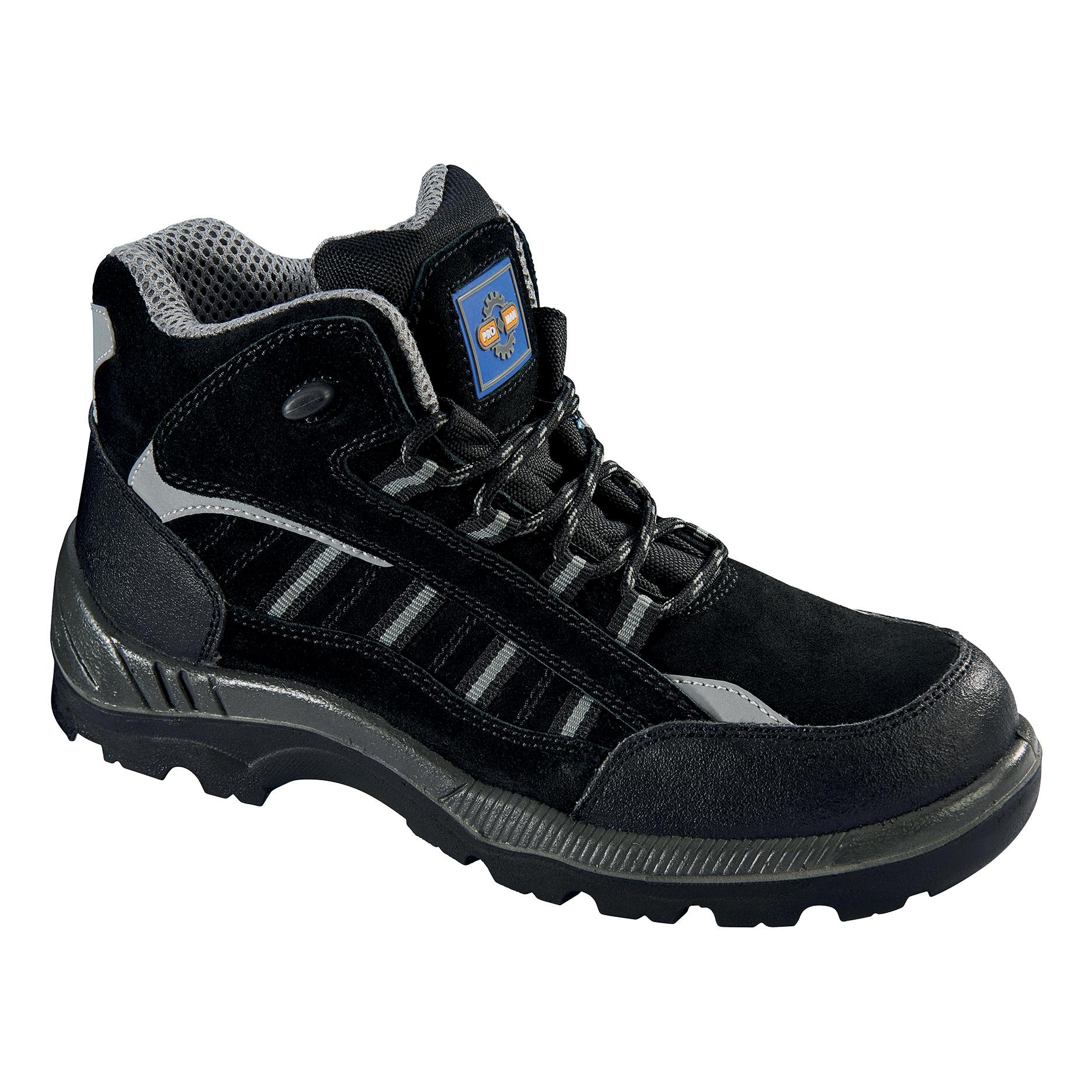 Rockfall ProMan Boot Suede Fibreglass Toecap Black Size 14 Ref PM4020 14