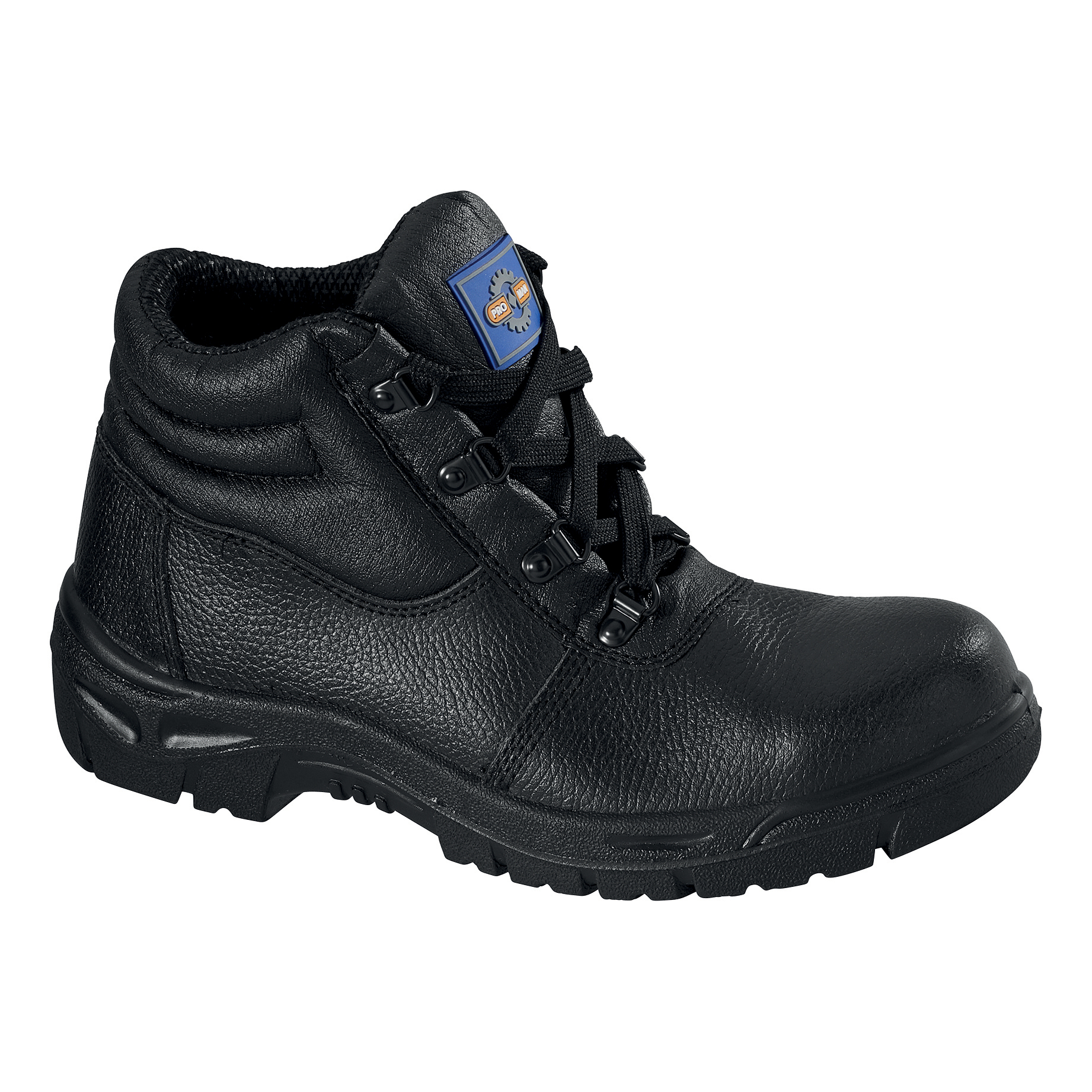 Rockfall ProMan Chukka Boot Leather Steel Toecap Black Size 14 Ref PM100 14