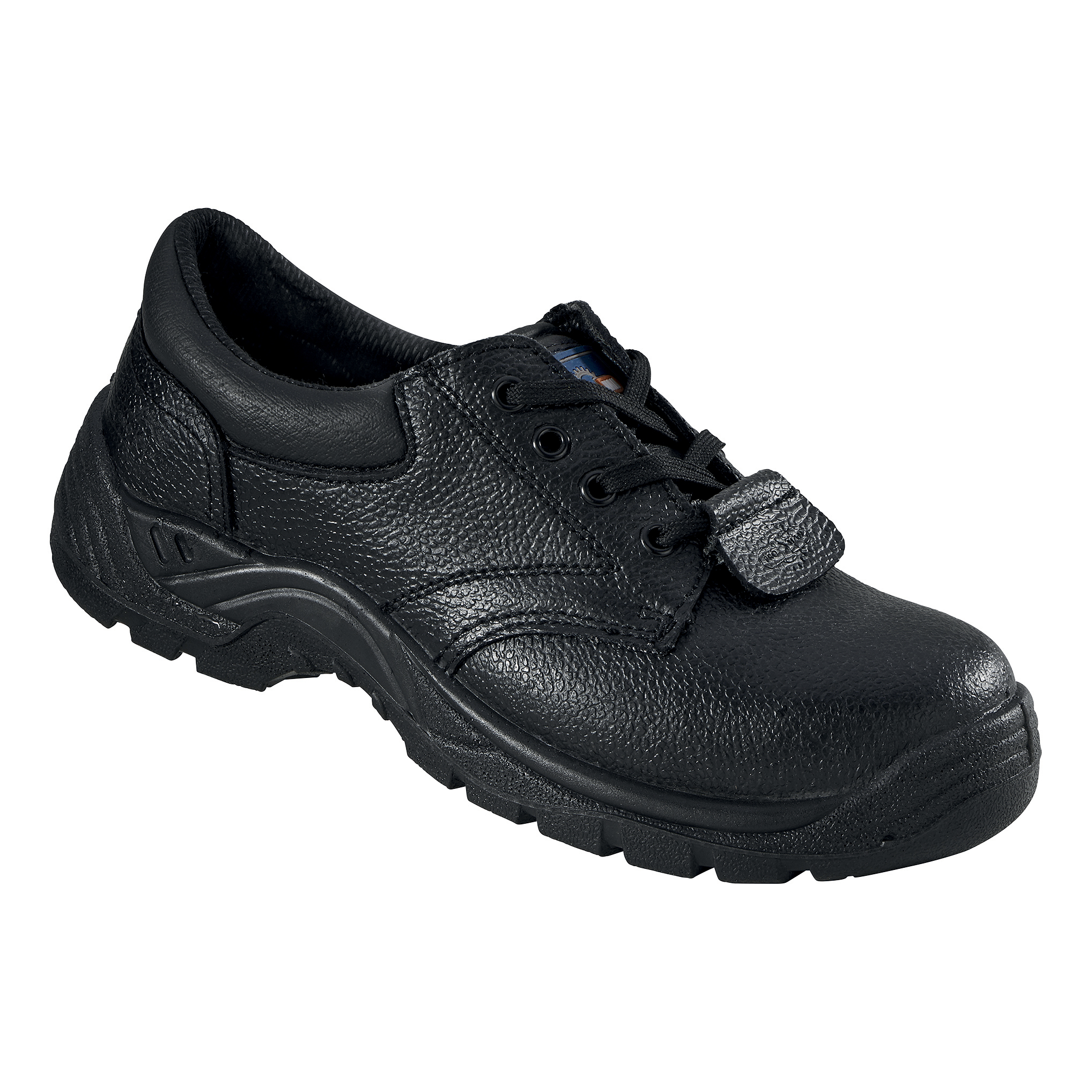 Rockfall ProMan Chukka Shoe Leather Steel Toecap Black Size 6 Ref PM102 6