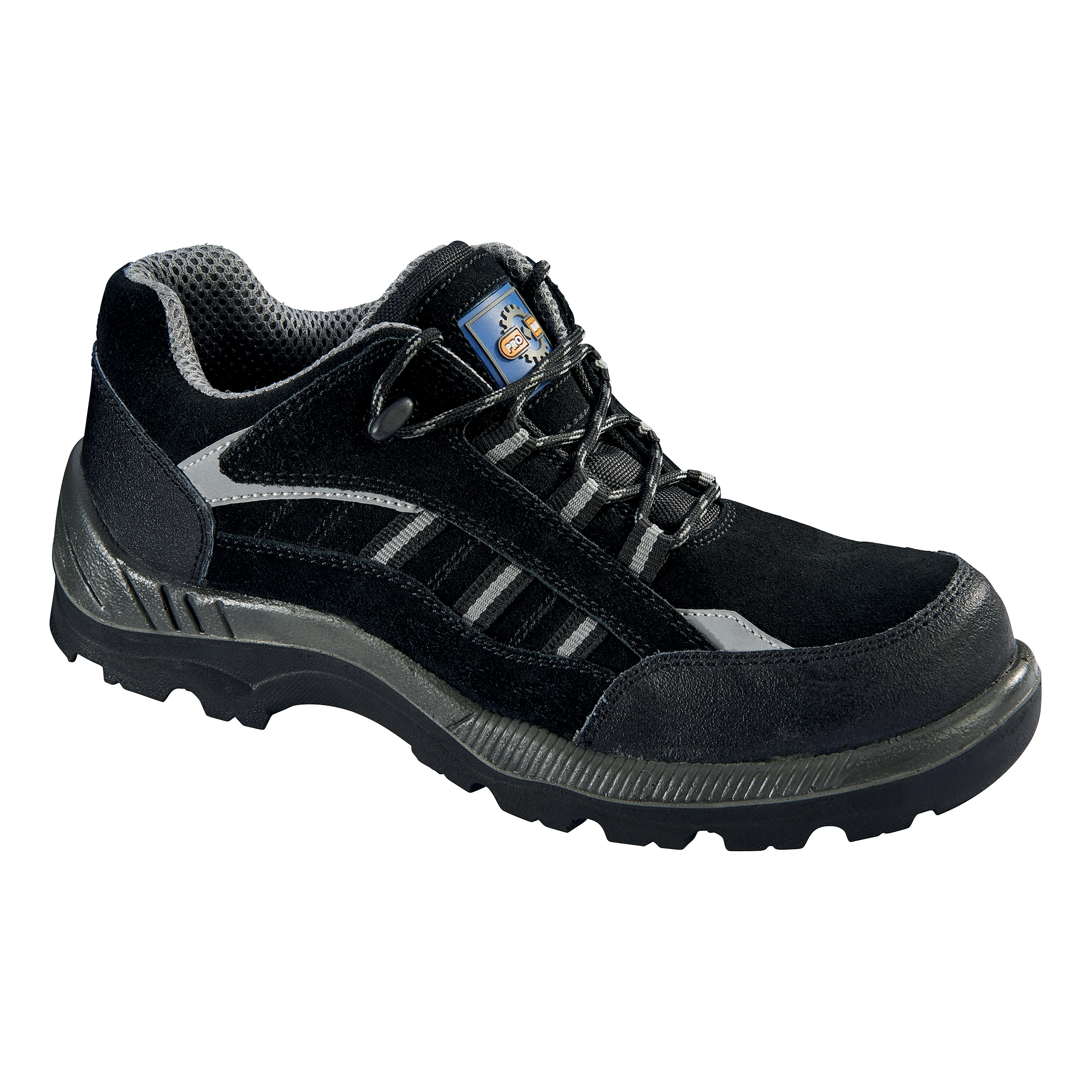 Rockfall ProMan Trainer Suede Fibreglass Toecap Black Size 3 Ref PM4040 3
