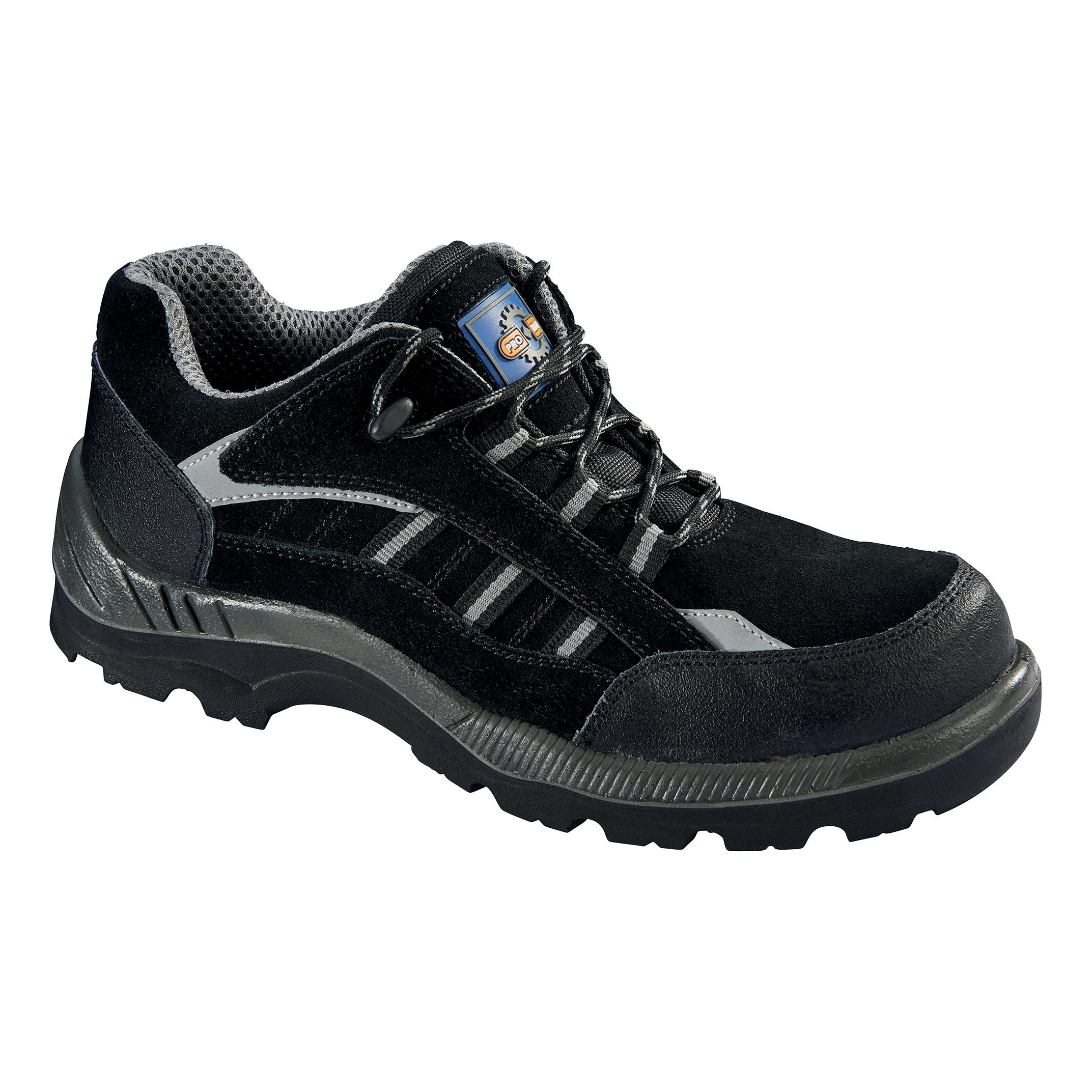 Rockfall ProMan Trainer Suede Fibreglass Toecap Black Size 7 Ref PM4040 7