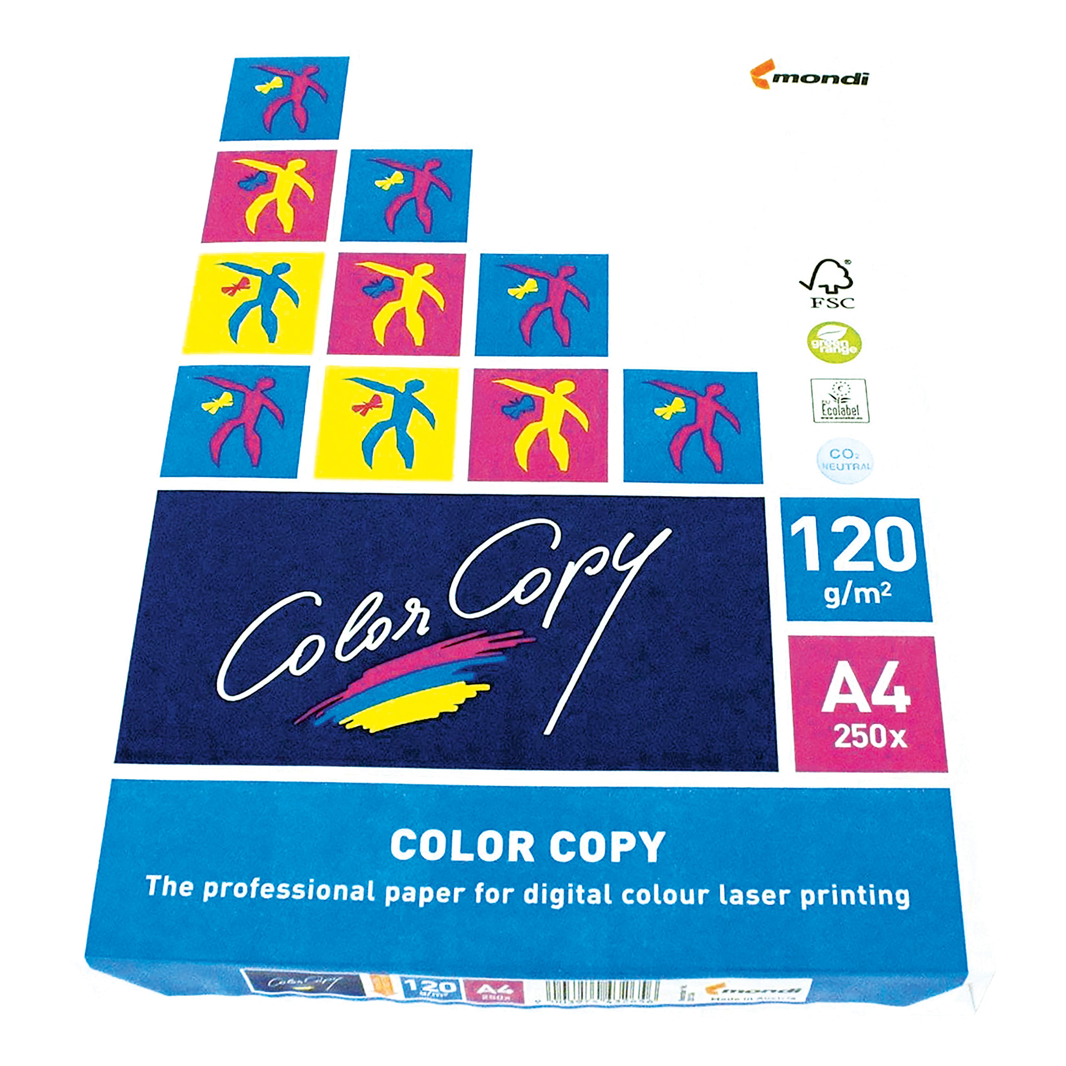 Color Copy Paper Premium Super Smooth 120gsm FSC A4 White Ref CCW0330 [250 Sheets]