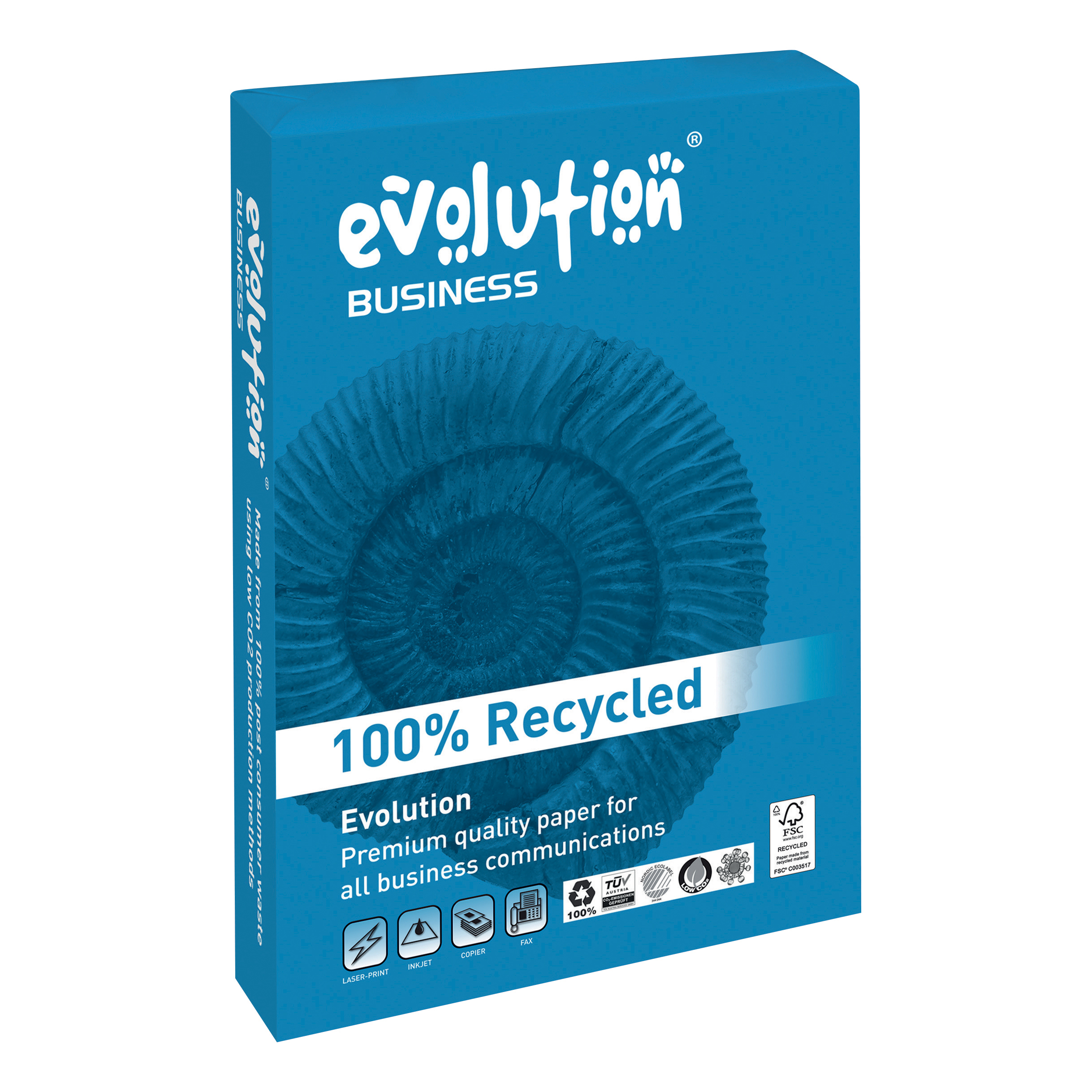 Evolution Business Paper FSC Recycled Ream-wrapped 100gsm A4 White Ref EVBU21100 [500 Sheets]