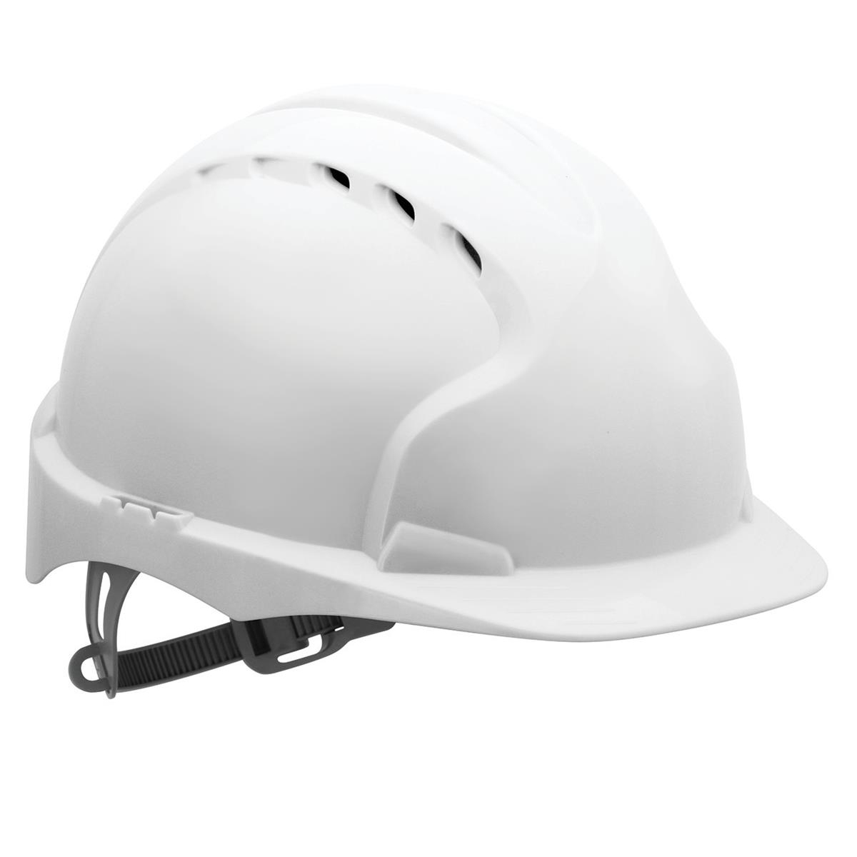 JSP EVO2 Safety Helmet HDPE 6-point Polyethylene Harness EN397 Standard White Ref AJF030-000-100