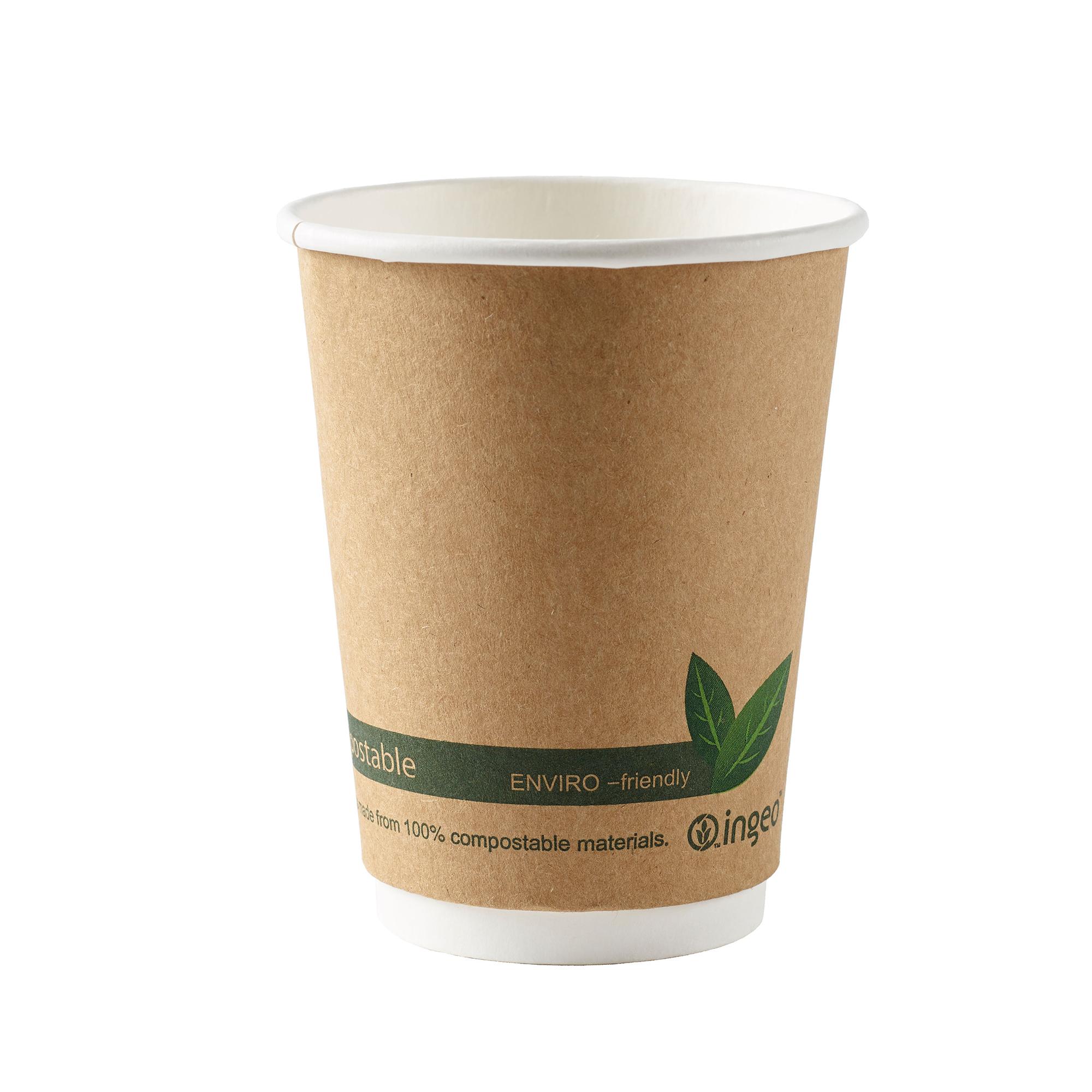 Ingeo Kraft Paper Cups 12oz Double Wall PLA Ref 44882 [Pack 25]