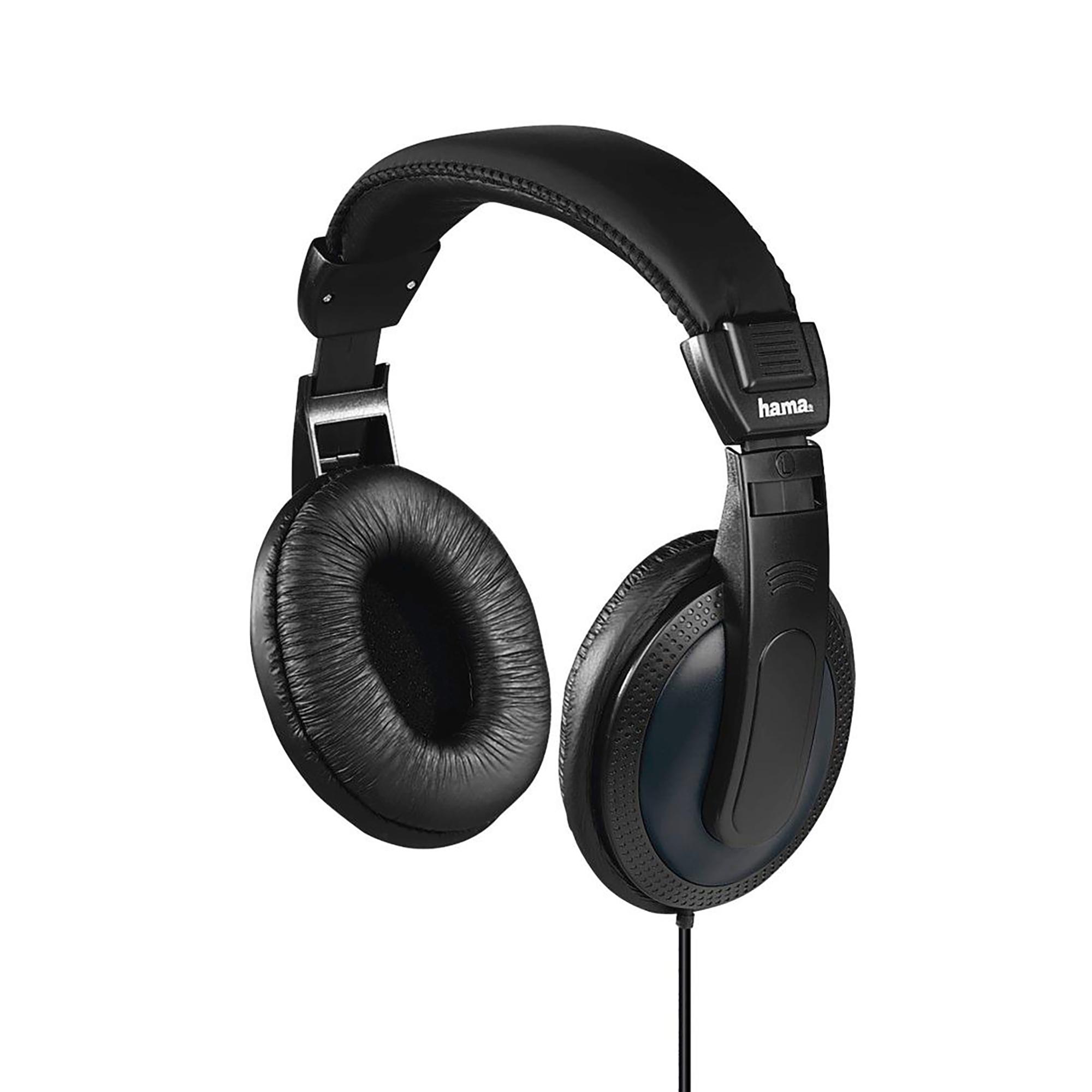 Hama Headphones Padded Over-Ear Circumaural Stereo 6m Cable Black Ref 00184013