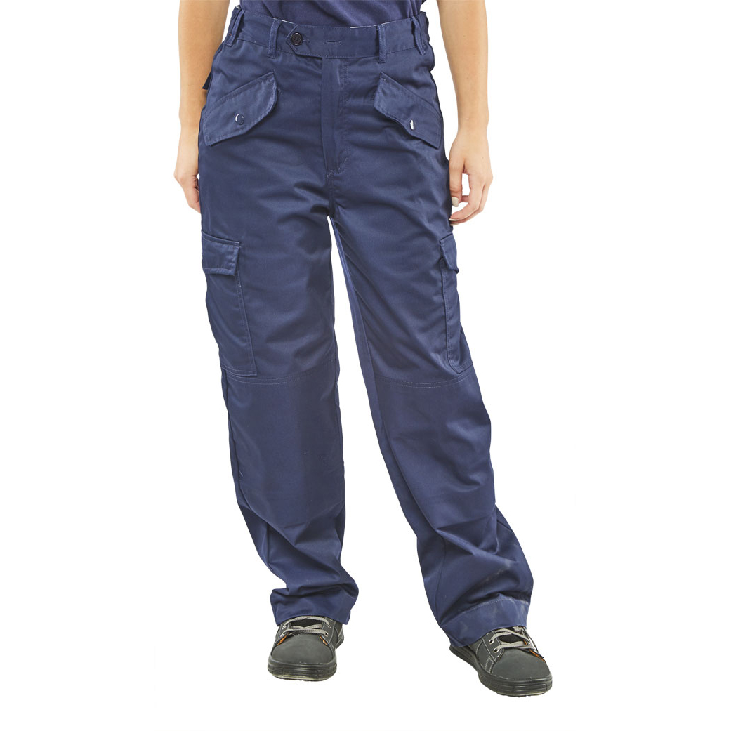 Poly-Cotton Workwear - Ladies P/C Trousers Navy 38
