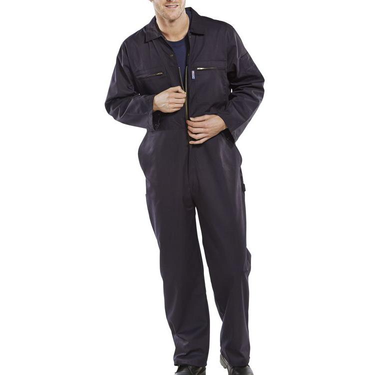 Poly-Cotton Workwear - Super Click Pc B/Suit Navy 38