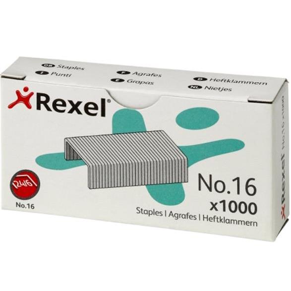 Rexel 16 Staples 6mm Ref 06121 [Pack 1000]