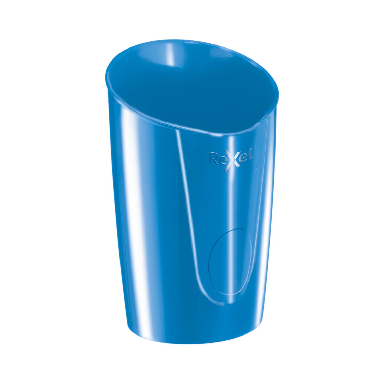 Image for Rexel Choices Pen Pot 90x90x124mm Blue Ref 2115615