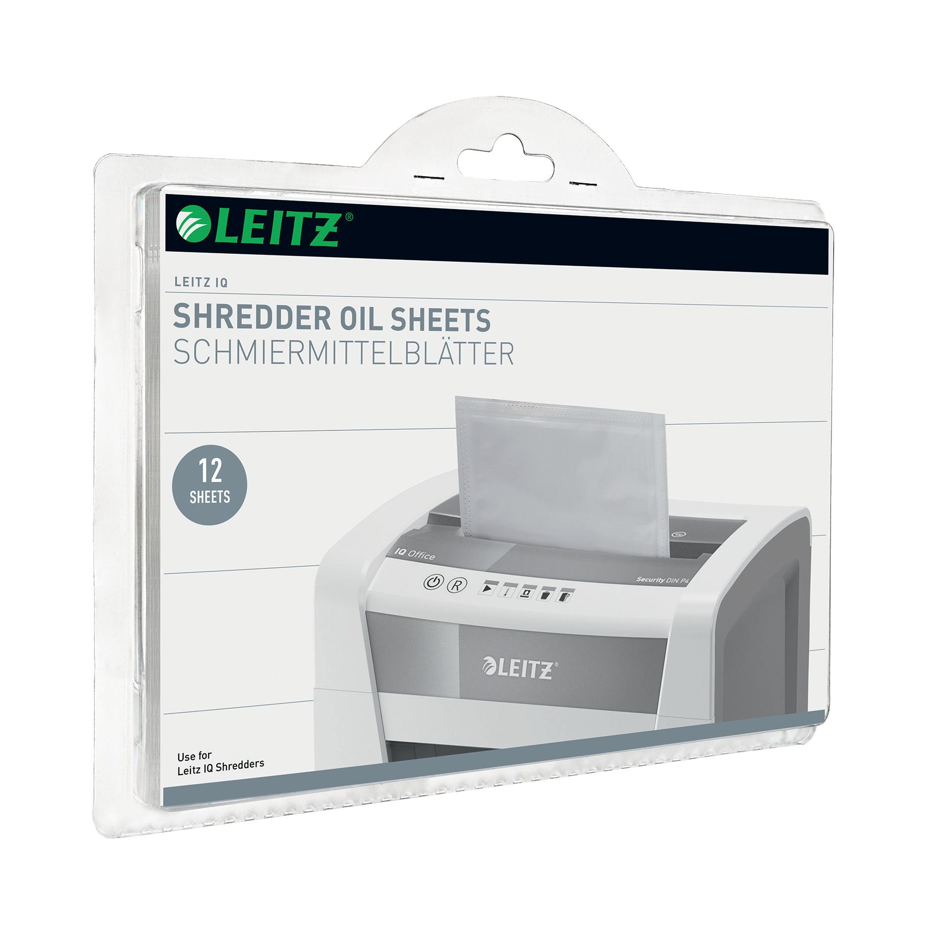 Image for Leitz Oil Sheets for IQ Shredder Ref 80070000 [Pack 12]