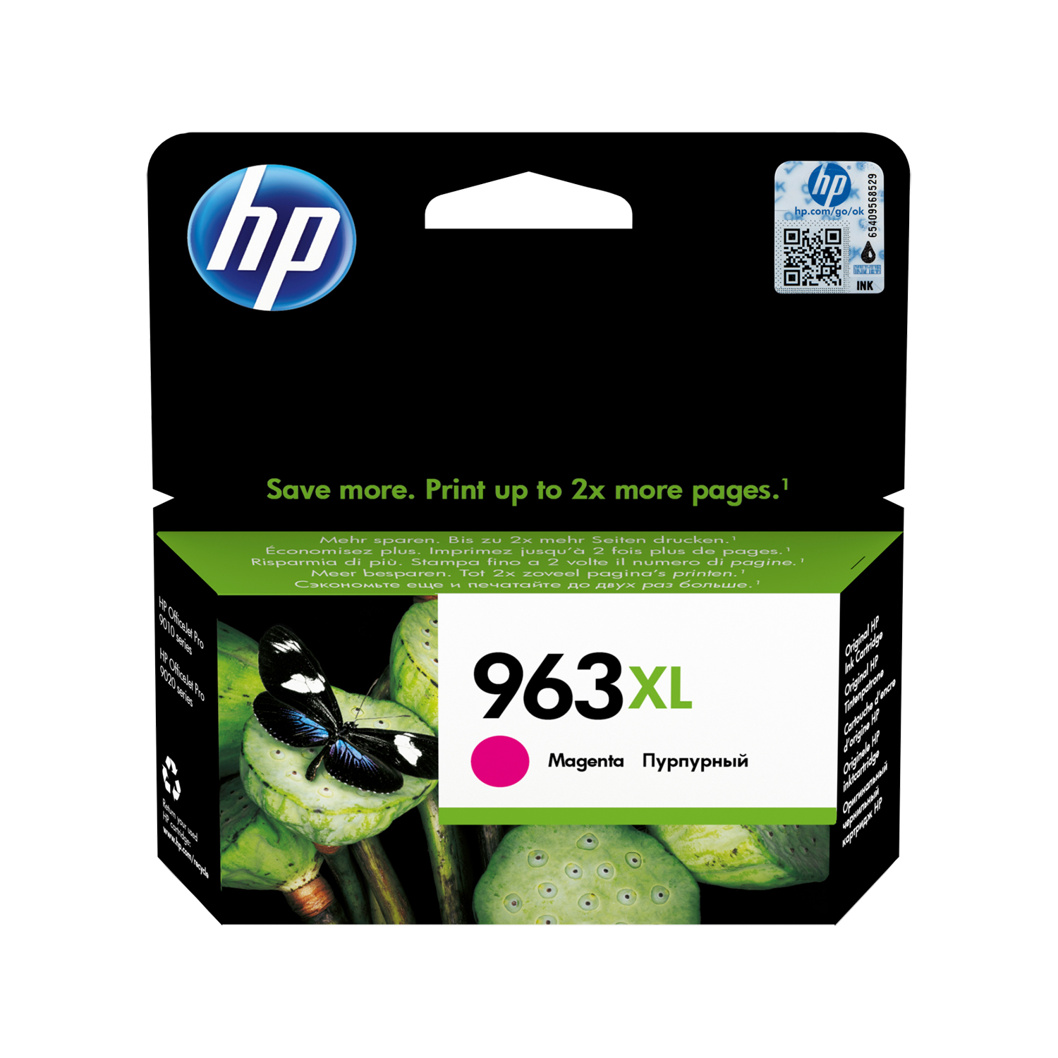 Hewlett Packard 963XL Inkjet Cartridge High Yield Page Life 1600pp 23.25ml Magenta Ref 3JA28AE
