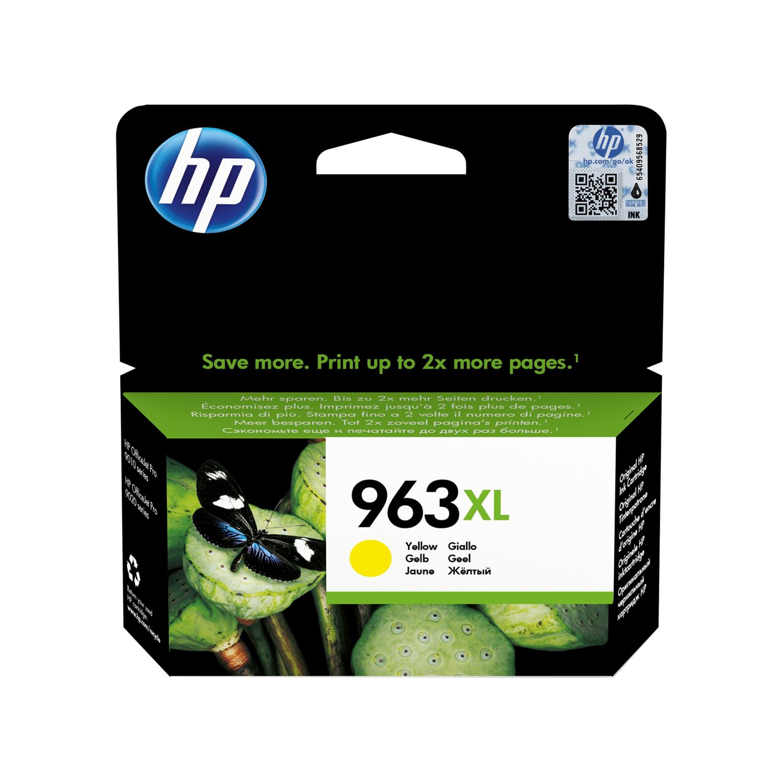 Hewlett Packard 963XL Inkjet Cartridge High Yield Page Life 1600pp 22.92ml Yellow Ref 3JA29AE