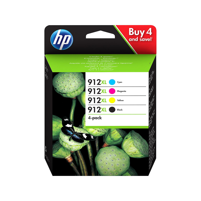 Hewlett Packard 912XL Inkjet Cartridge High Yield Black/Cyan/Magenta/Yellow Ref 3YP34AE [Pack 4]