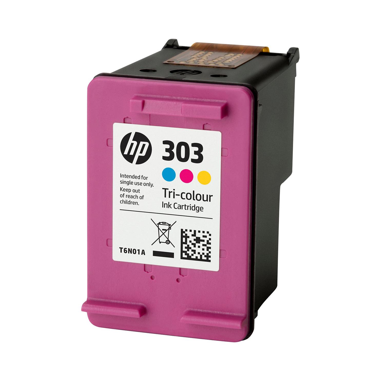Hewlett Packard 303 Inkjet Cartridge Page Life 165pp 4ml Tri-Colour Ref T6N01AE