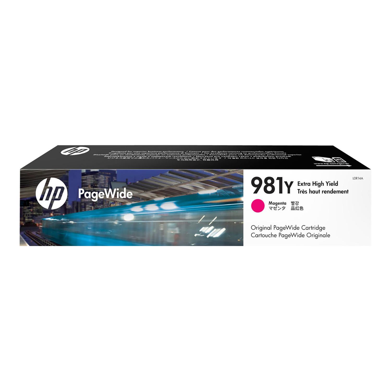 Hewlett Packard 981Y Pagewide Ink Cartridge Extra High Yield 16000pp 183ml Magenta Ref L0R14A