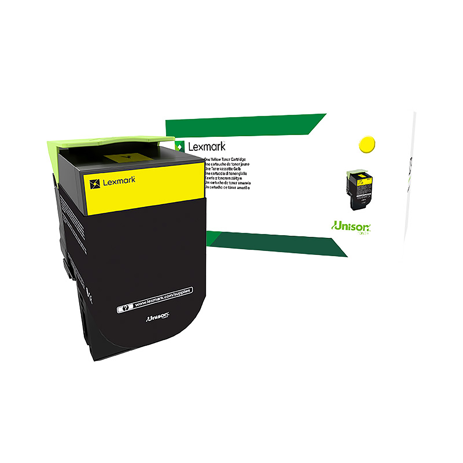 Lexmark CS/CX3 Series Laser Toner Cartridge Return Program Page Life 2300pp Yellow Ref 71B20Y0